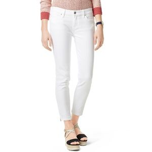 Tommy Hilfiger Womens White Ankle Skinny Pants